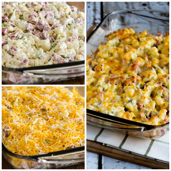 Kalyn's Kitchen®: Low-Carb Ham and Cauliflower Casserole au Gratin