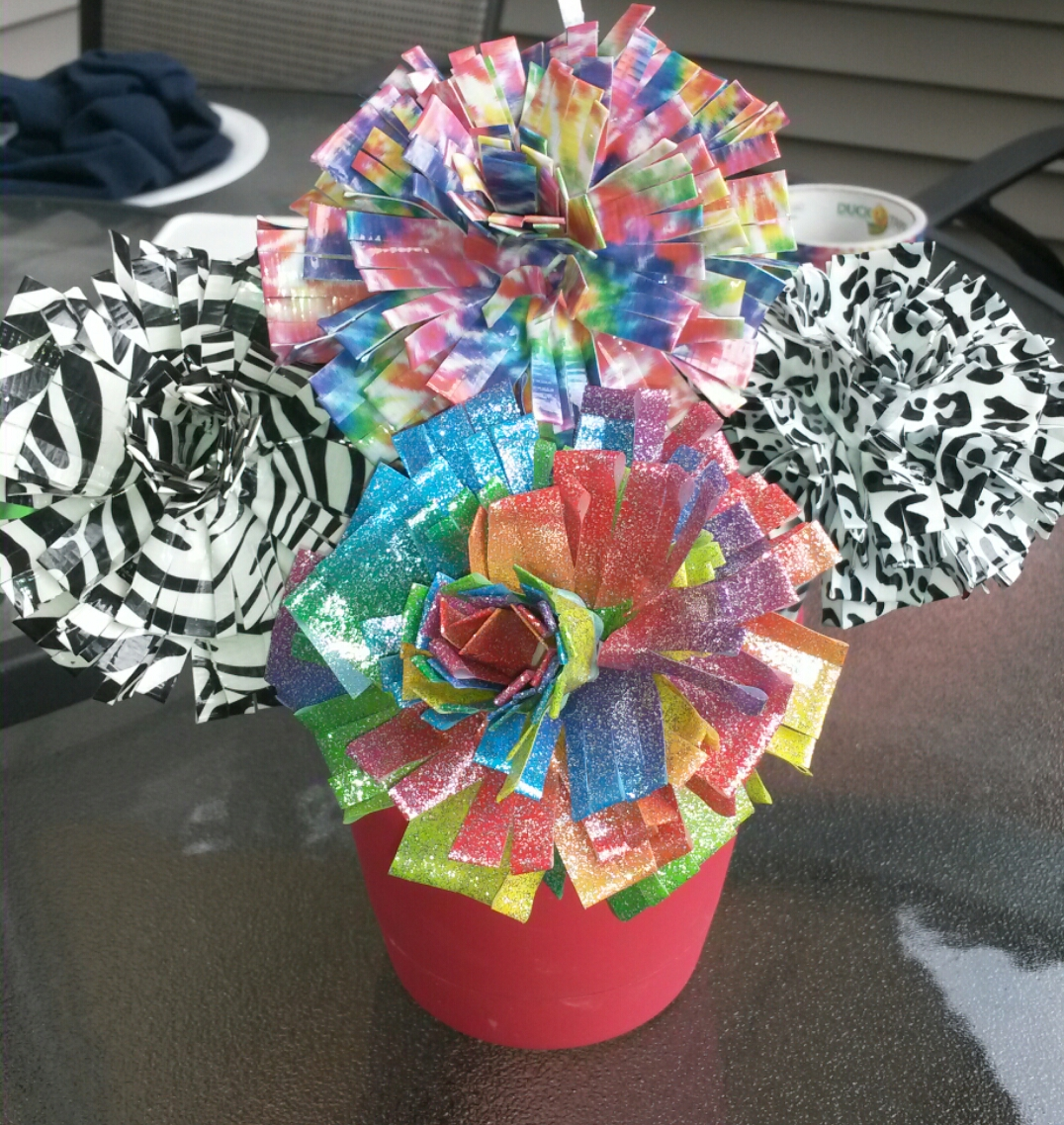 Back to school diy duct tape flower pens craft mommys block party years ago when my oldest daughter started pre school the very first day of school she wanted to take a flower to her teacher several years later it is mightylinksfo