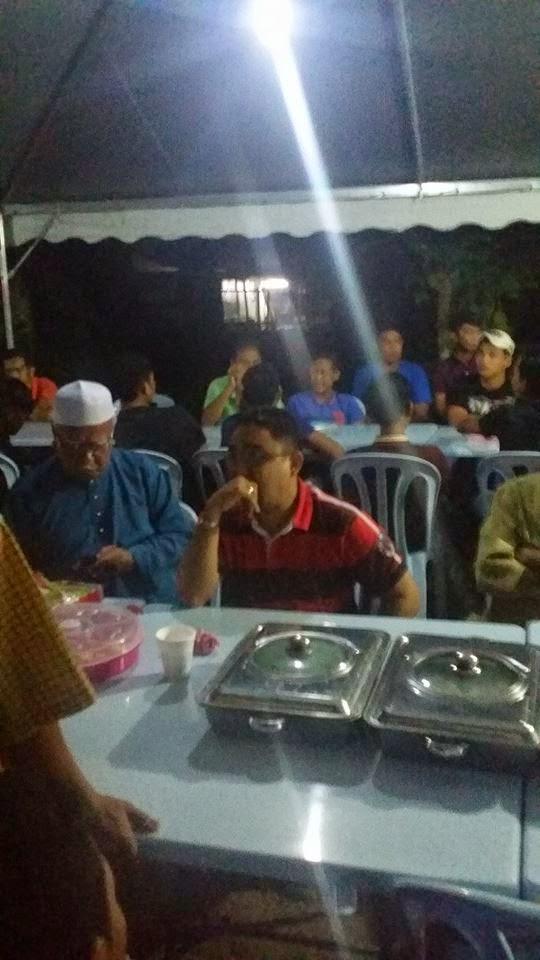 Menghadiri Majlis Doa selamat tahlil dan seterusnya openhouse melibatkan 5 cawagan di Hutan Melintang