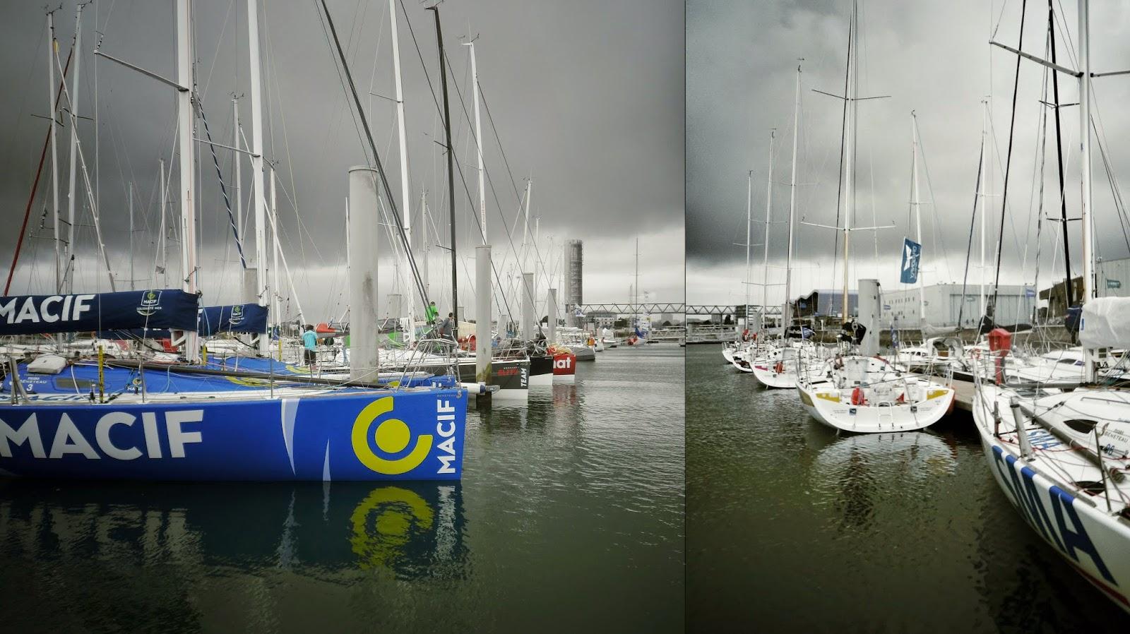 La flotte de la Lorient Horta Solo en place à la BSM.