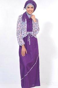 Manet Gamis 3234 - Ungu Tua (Toko Jilbab dan Busana Muslimah Terbaru)