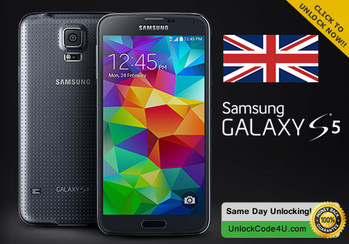Factory Unlock Code for Samsung Galaxy S5 Any UK Network