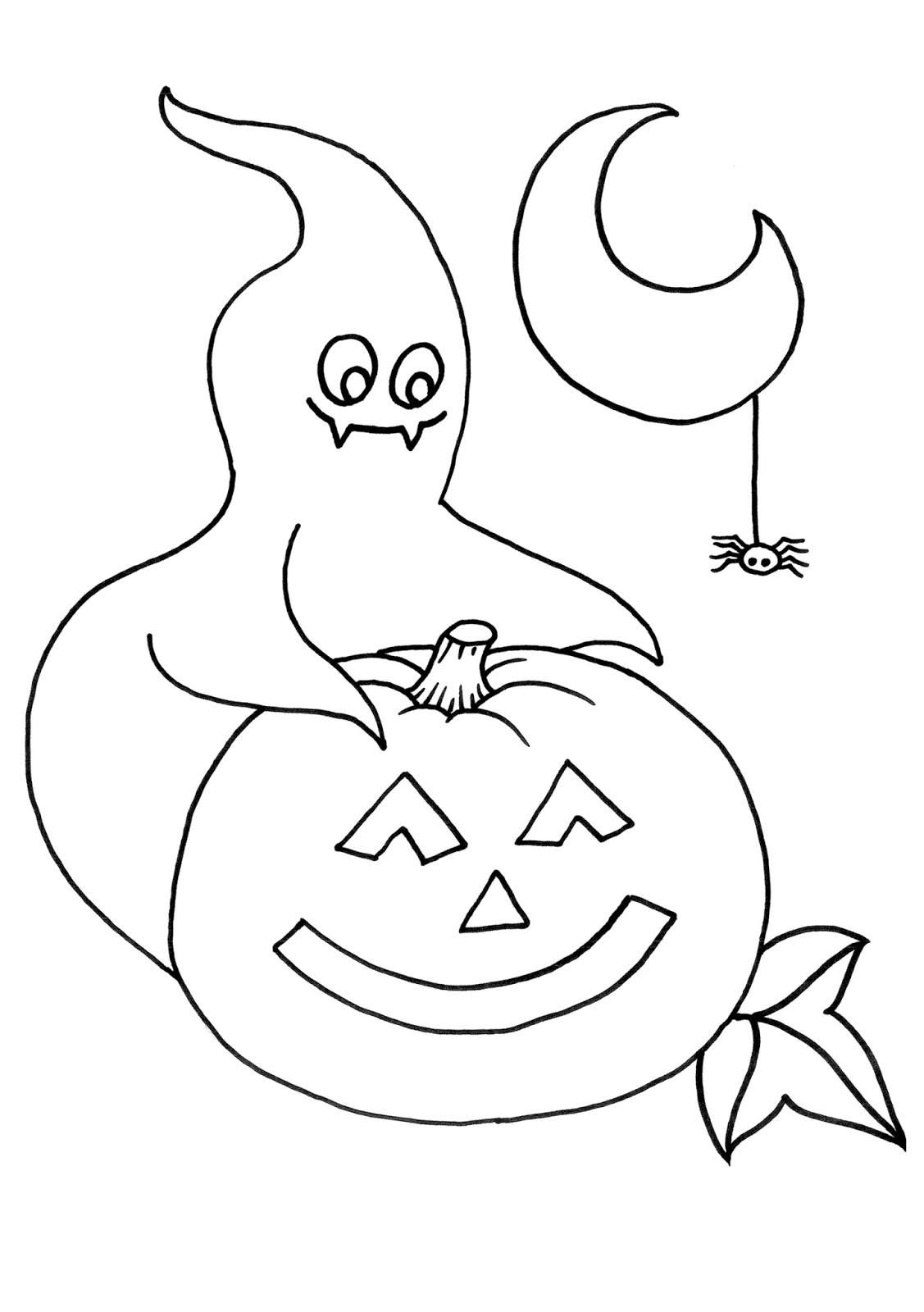 Banco de Imagenes y fotos gratis: Dibujos de Halloween para Pintar 8