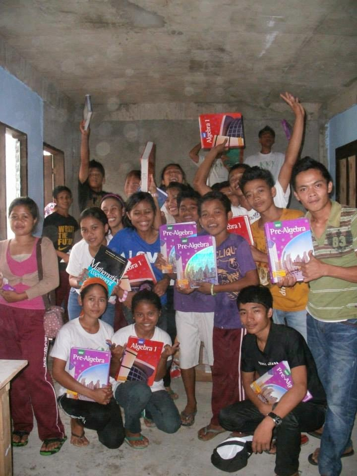Students happy for their books