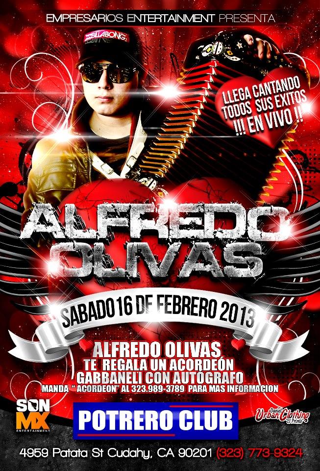 Alfredo Olivas En El Potrero de Cudahy Sabado 16 De Febrero 2013 [Evento]