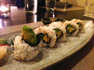 Mino - Mosman, Sydney - Avocado and lotus root sushi