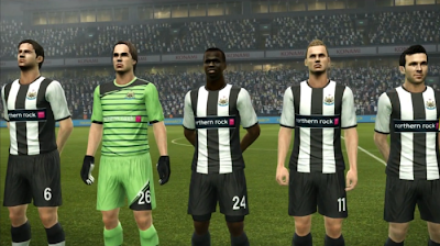 Newcastle United on PES 2012