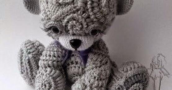 Amigurumi Teddy Bears : Irina cute freeform crochet teddy lesson
