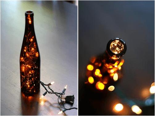 el yapımı şişe gece lambası