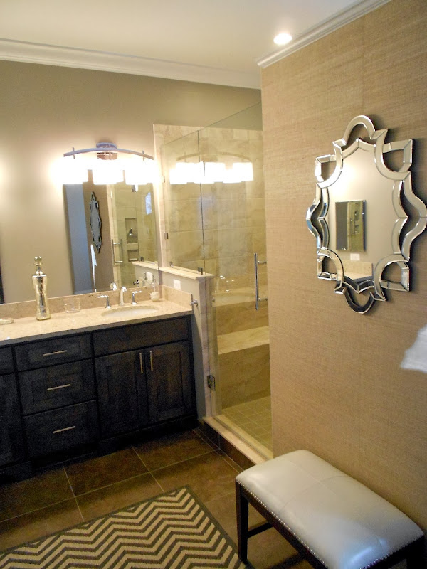 the new wall that became a focal point when you entered the bathroom title=