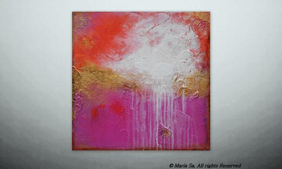 acrylic impasto effect painting