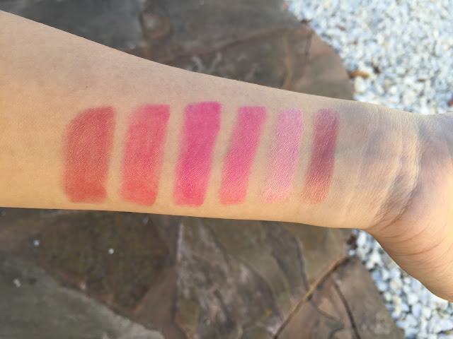 Photo of 100% Pure Vitamint swatches.