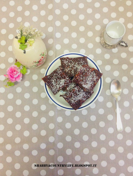 Vegan Raw Brownies super Fast and with delight! - shabby&countrylife.blogspot.it