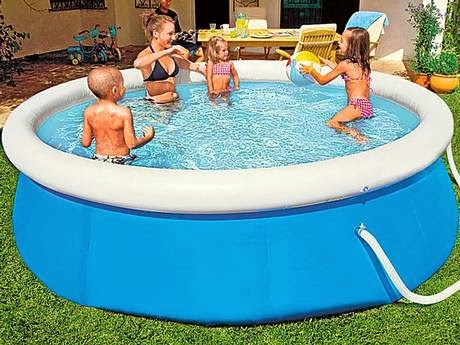 Inflatable pools pools plastic practices for summer for Plastic garden pool
