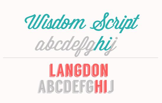 Hello Type Love Wisdom Script Langdon