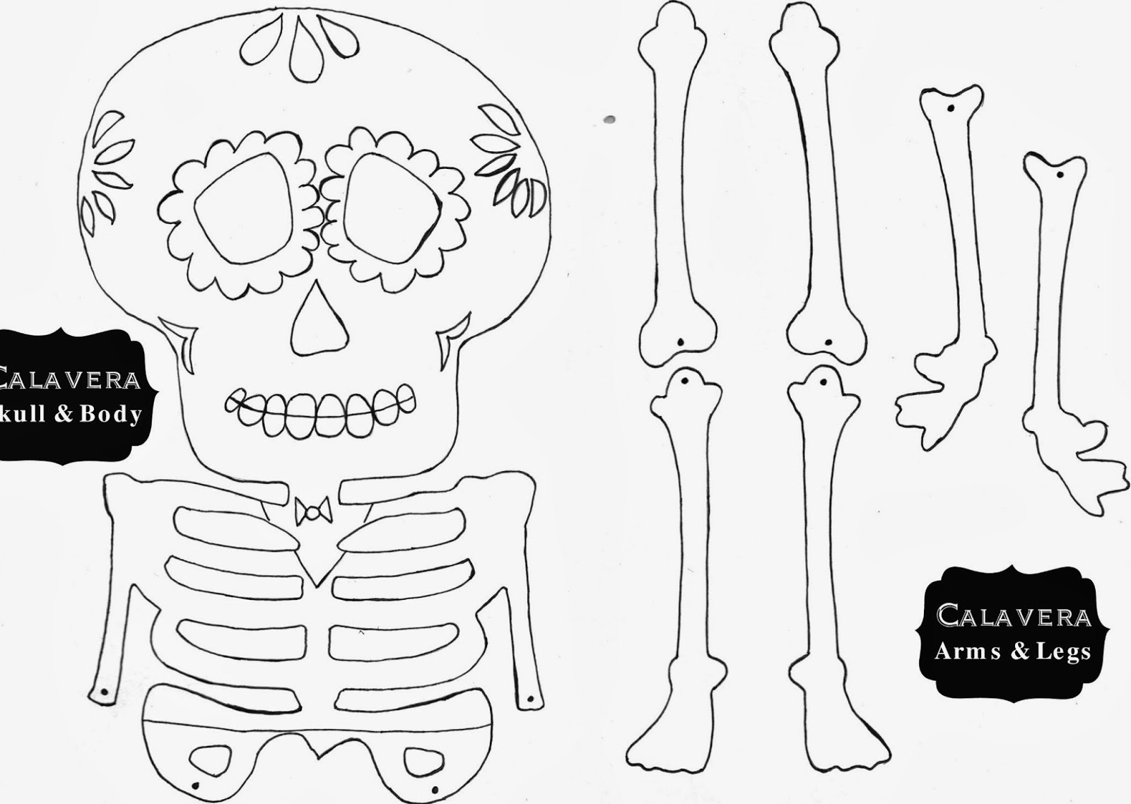 Day Of The Dead Template Skull Template Mini Day Of The Dead Mexico ...