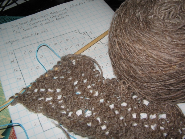 Knitting Edges Together : Sharing the fiber fever progress knitted lace blanket edging
