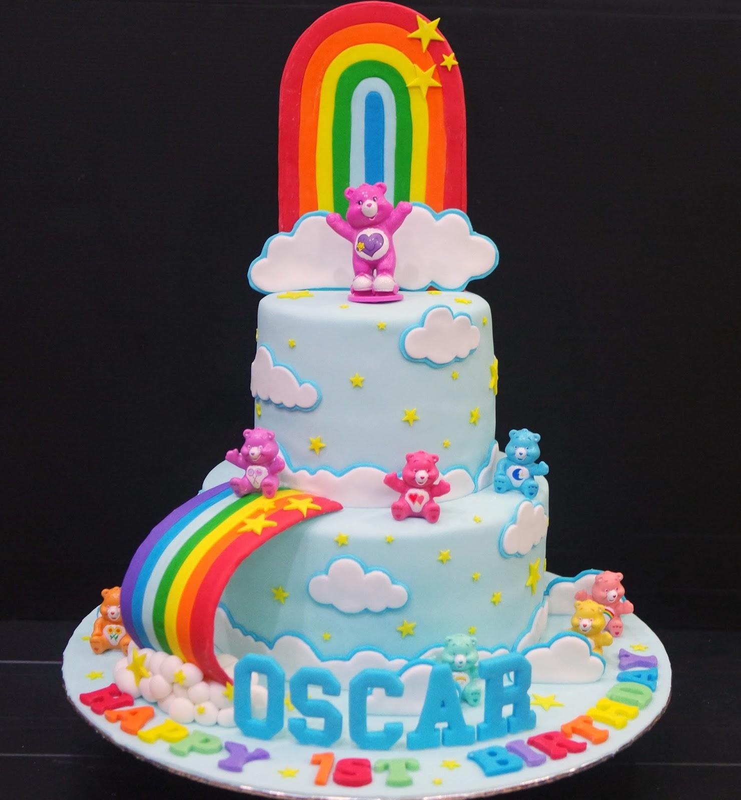 Cupcake Divinity Care Bears Cake
