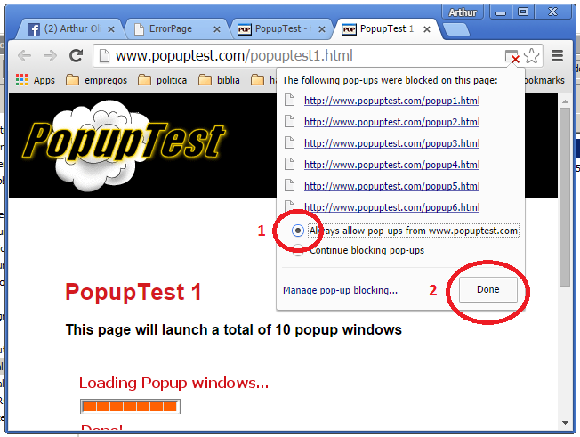 how to stop pop ups on chrome windows 7