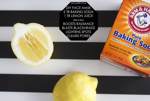 face mask recipe get rid of blackheads with baking soda and lemon juice