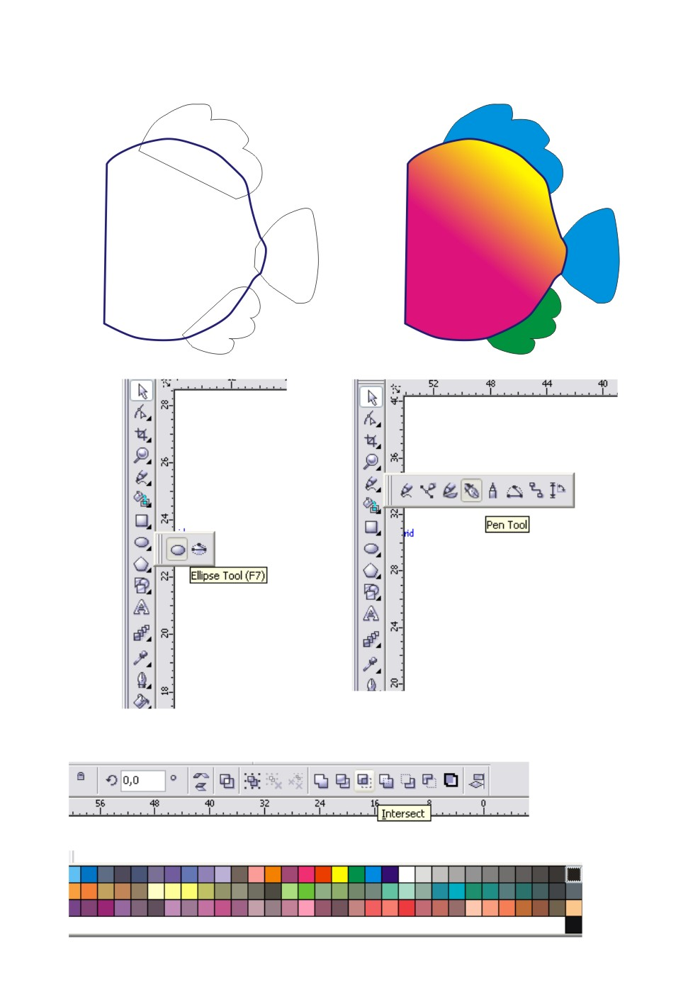 Tutorial coreldraw october 2015 2 first we made this picture with mat pictures made in advance then heads at once we giveour suit color ccuart Images