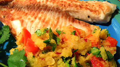 Closeup of Salsa on Fish