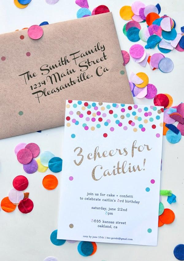CAKE Creative Co.: Confetti Birthday Party | Invites & Decorations