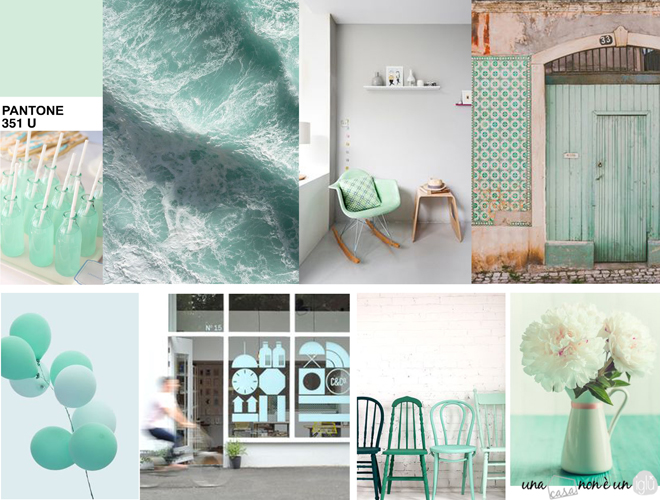 Una casa non un igl in love with green mint 10 cose - Bagno di colore fai da te ...