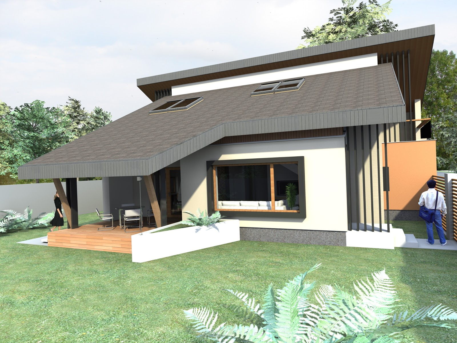 Arhiconstruct casa parter si mansarda proiect casa nb 51 for Case parter