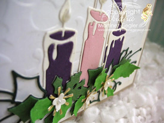 advent flowers detail card