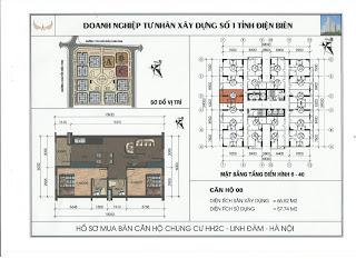 Bán căn hộ 0608 của chung cư HH2C Linh Đàm