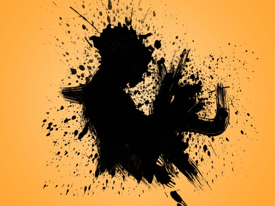 Image Masking - splatter brushes