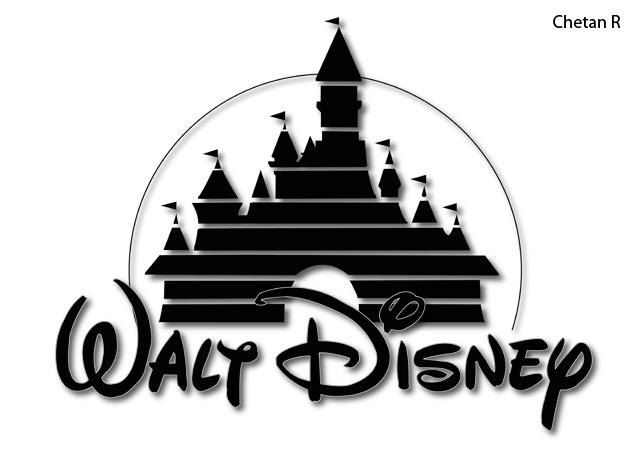 Walt Disney castle logo. Done in Illustrator software. Pen tool and a ...