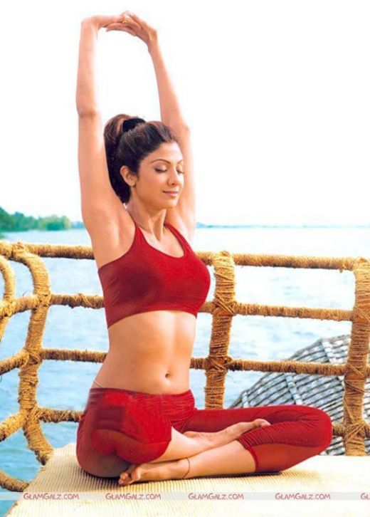 Actress Shilpa Shetty Yoga