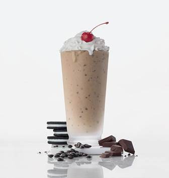 Photo of Oreo Milkshake with cherry on top
