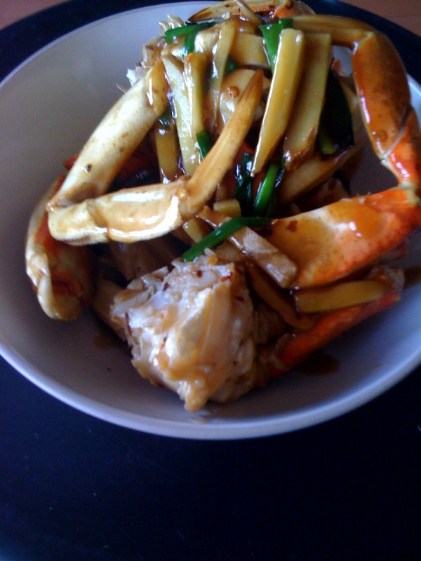 ... by Association: Chinese New Year Recipes: Ginger and Scallion Crab