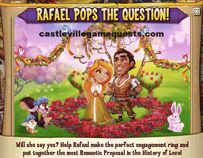 Castleville Rafaels Big Proposal Quests