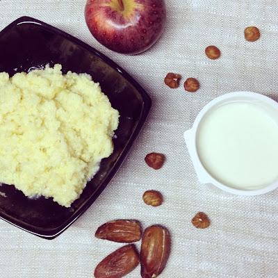 porridge millet dattes noisettes