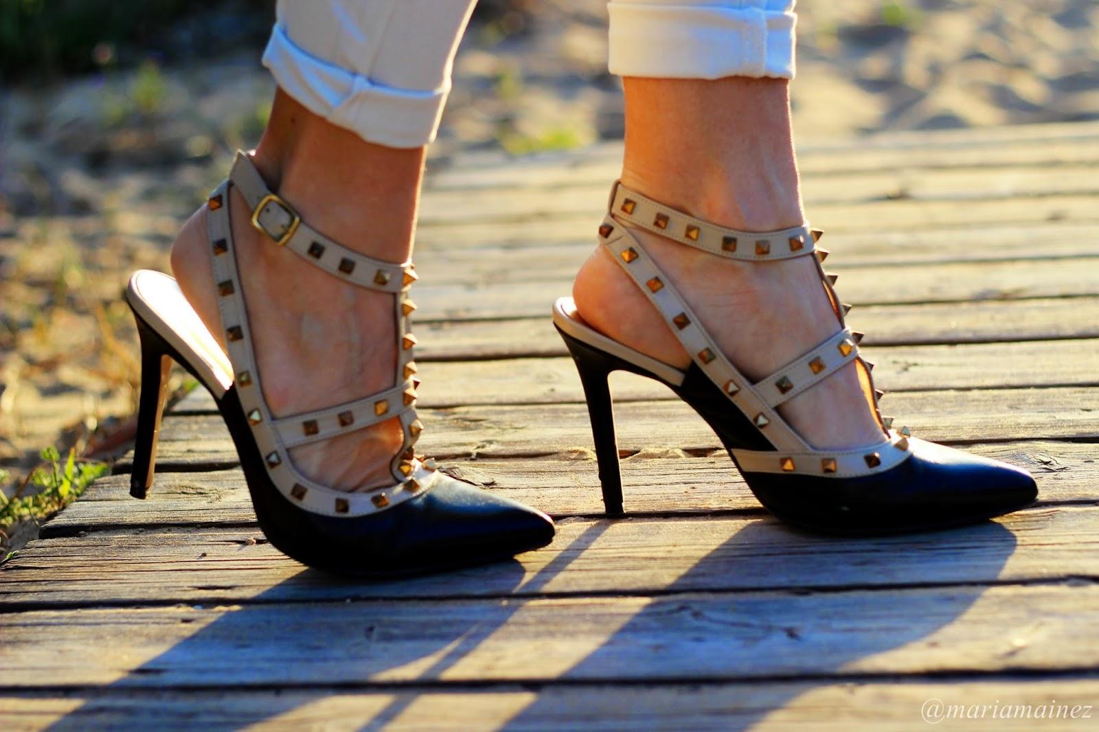 Imitación Valentino - Calzado tachas - Calzado piel