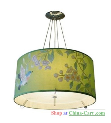 hand painted lamp shade lamps and shades pinterest. Black Bedroom Furniture Sets. Home Design Ideas