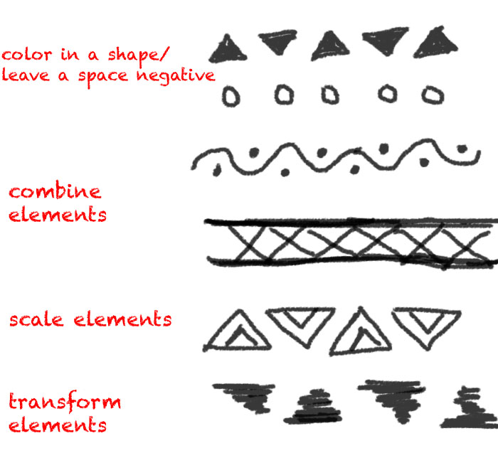 How to Draw Tribal Print
