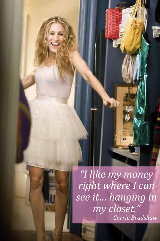 Carrie Bradshaw fashion quote