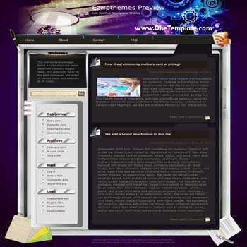 Unwritten blogger template. converted WordPress to Blogger template. tech template blog