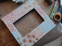 paint and stamp over the letters