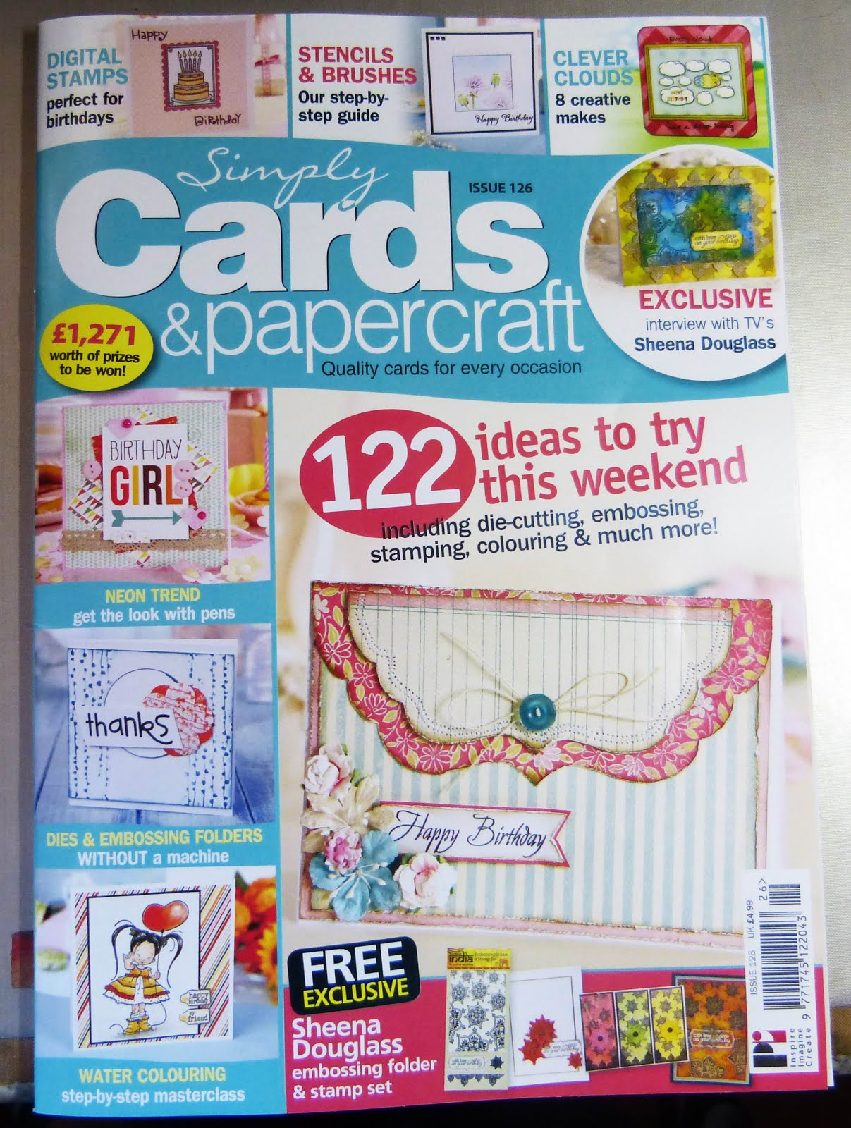 Published In Simply Cards &  Papercrafts Issue 126