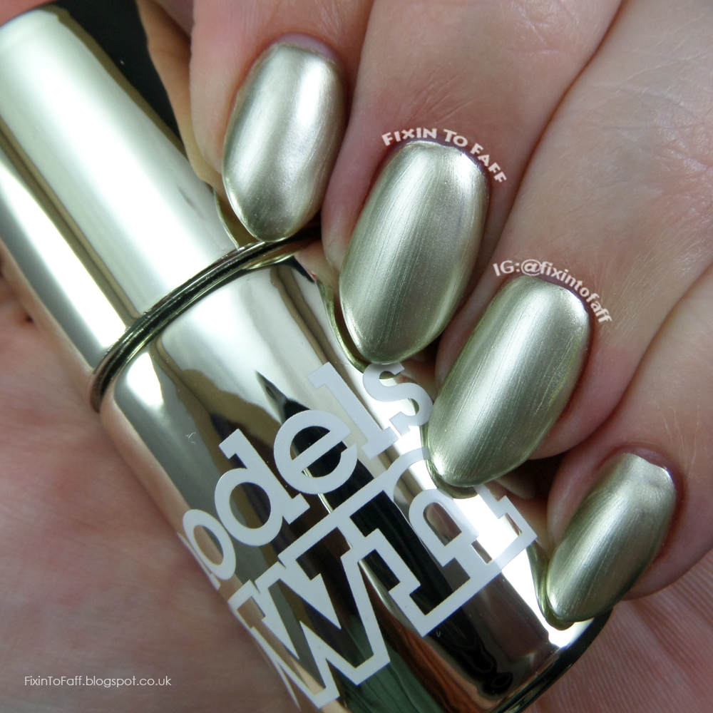 Swatch and review of Models Own Colour Chrome collection, Chrome Olive