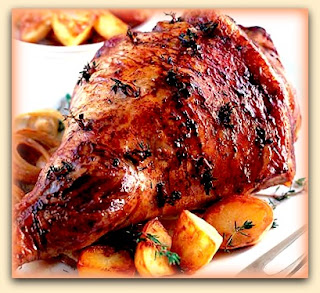 Carne ovina assada com batata