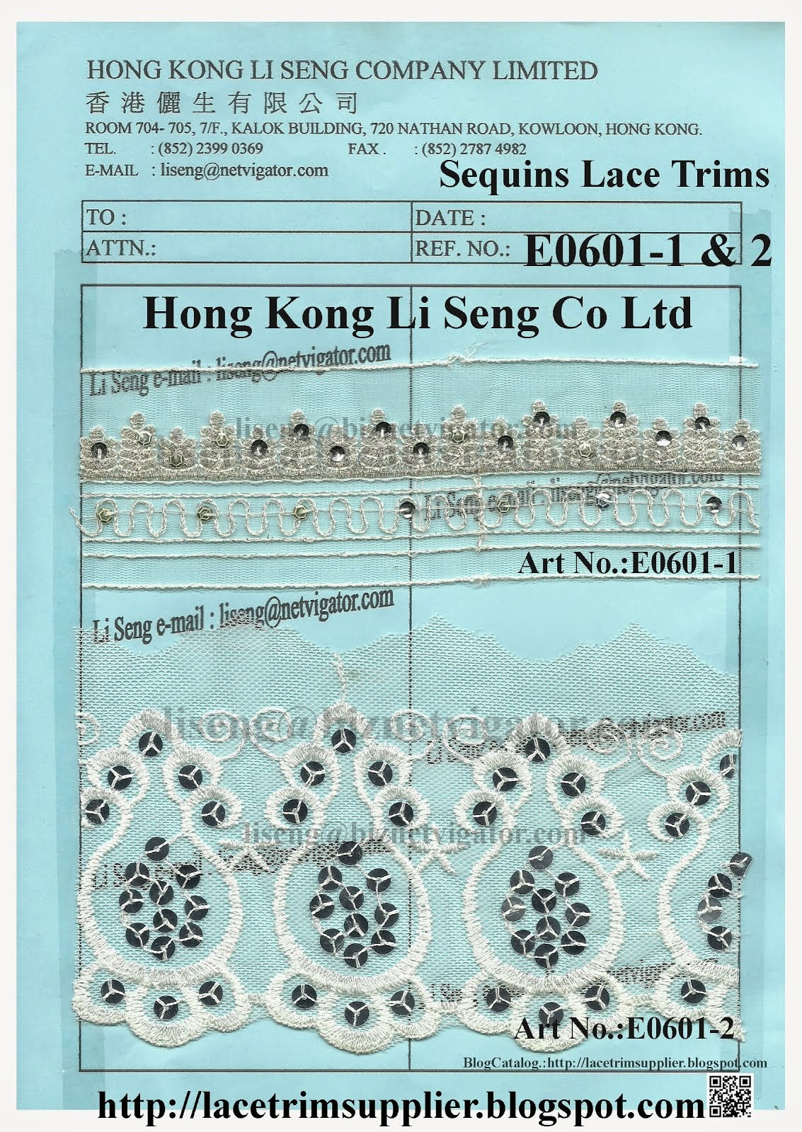 Sequins Lace Trim Wholesale Supplier Factory - Hong Kong Li Seng Co Ltd