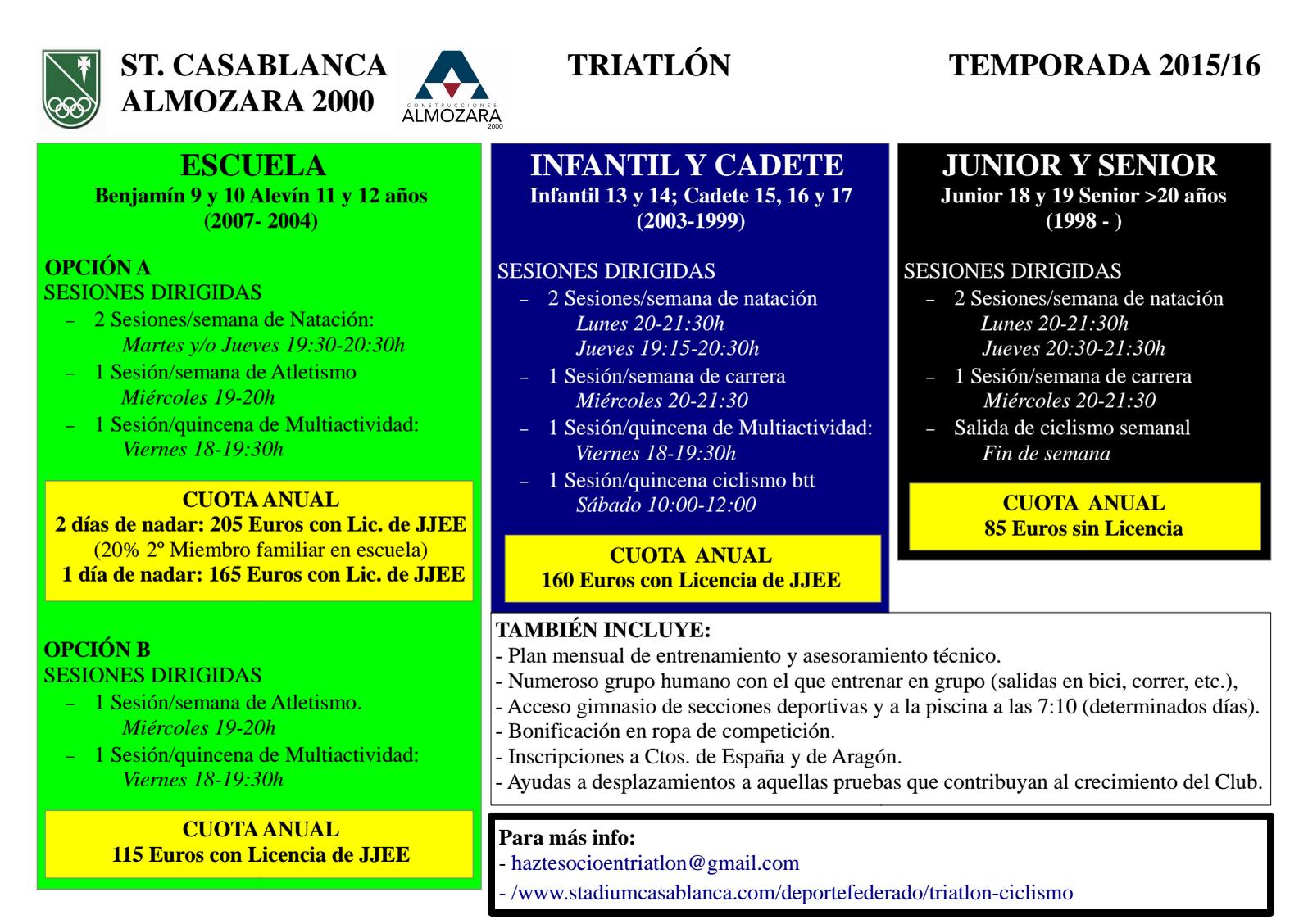 OFERTA DEPORTIVA 2015/16