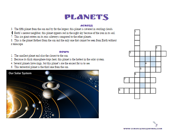 picture relating to Printable Planet known as Curious Crosswords: Printable World Crossword